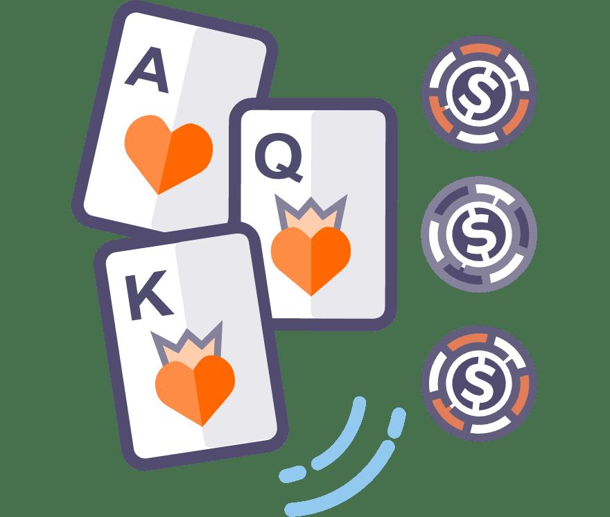 Hrajte Tříkaretní poker Online -Top 28 nejvýše platící Mobilní Casinos 2021
